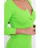 Suknelė su iškirpte ir su sagutėm (Žalia) (Neoninė)