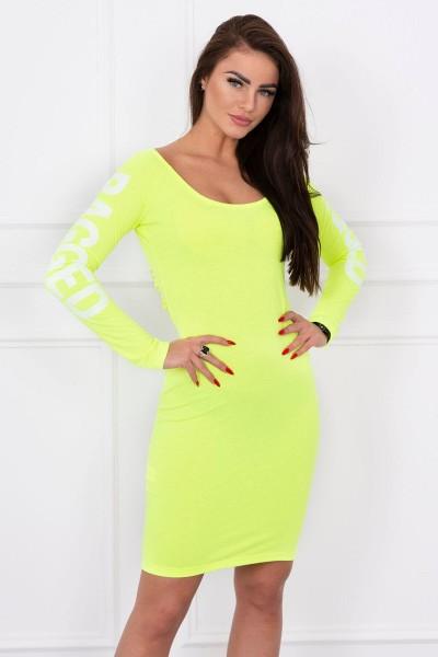 Suknelė su užrašu (Geltona) (Neoninė)