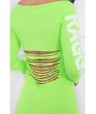 Suknelė su užrašu (Žalia) (Neoninė)