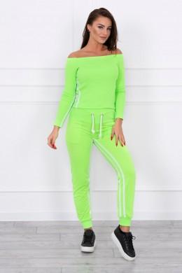 Kostiumėlis su dvigubomis juostomis (Žalia) (Neoninė)