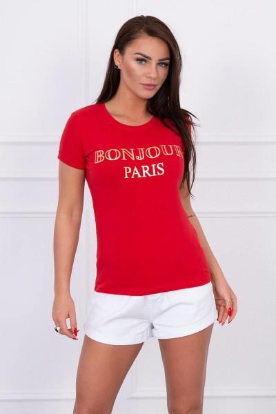 Palaidinė Bonjour Paris (Raudona)