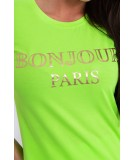 Palaidinė Bonjour Paris (Žalia) (Neoninė)