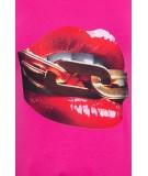 Palaidinė su (Raudona) lūpų aplikacija (Fuksijos)