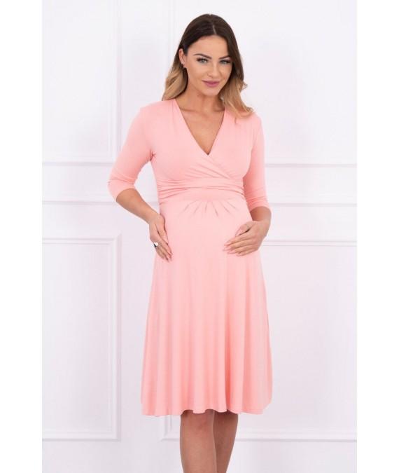 Suknelė su iškirpte (Lašišos spalvos)