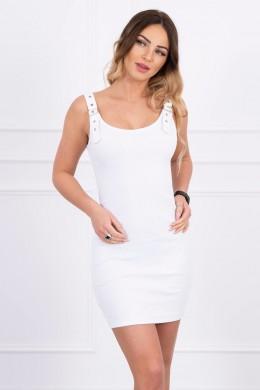 Suknelė su prisitvirtinančiom petnešėlėm (Balta)