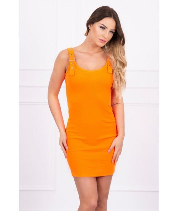 Suknelė su prisitvirtinančiom petnešėlėm (Oranžinė) (Neoninė)