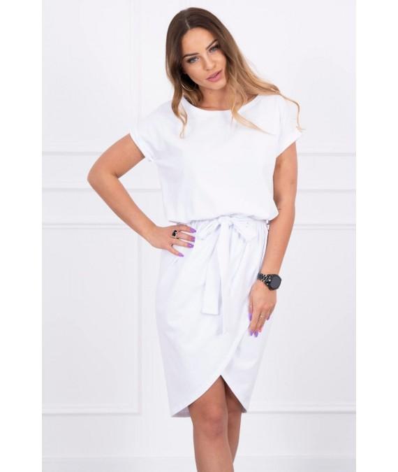 Surišama suknelė su perleidžiama apačia (Balta)