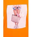 Palaidinė su foto aplikacija (Oranžinė)