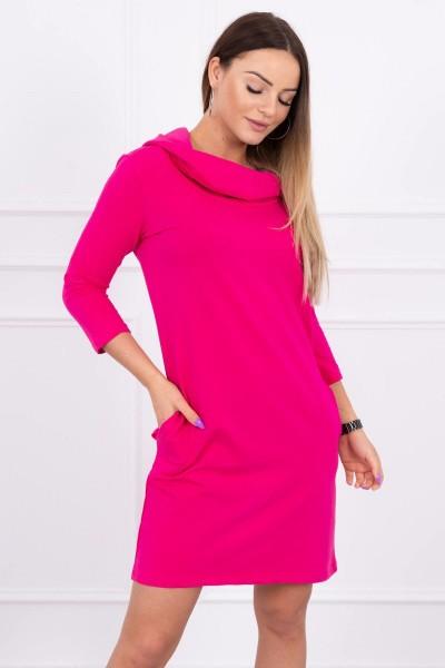 Suknelė su gobtuvu ir kišenėmis (Fuksijos)
