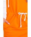 Surišama suknelė su gobtuvu (Oranžinė)