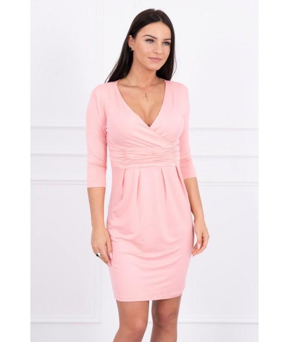 Aptempta suknelė (Lašišos spalvos)
