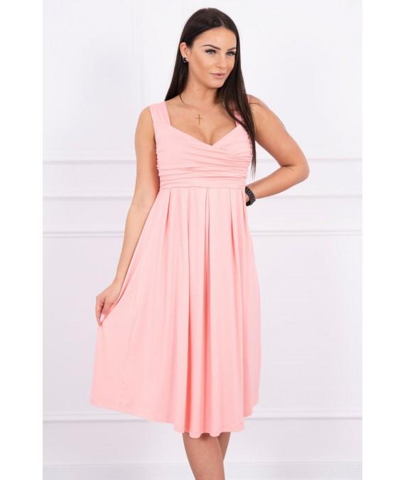Suknelė su raišteliu (Lašišos spalvos)