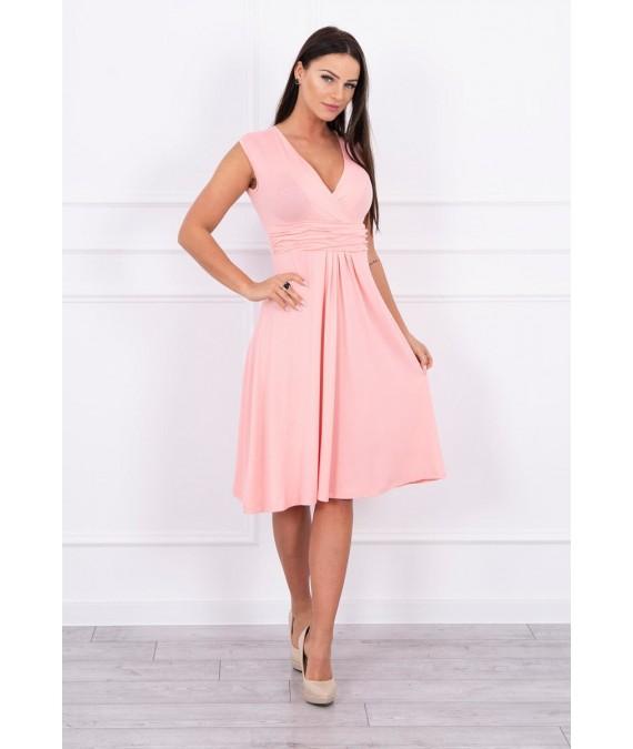 Suknelė su pūsta apačia (Lašišos spalvos)
