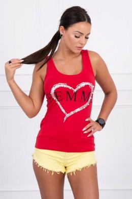 Palaidinė su Femme print (Raudona)