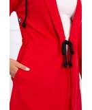 Kardiganas su ilgesne nugara (Raudona)