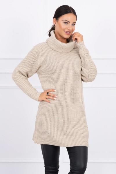 Plonas megztinis (Smėlio spalva)