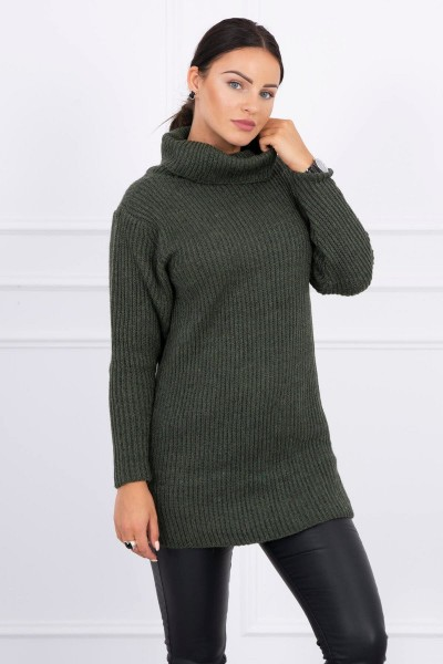 Plonas megztinis (Khaki)