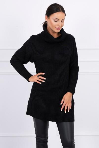 Plonas megztinis (Juoda)