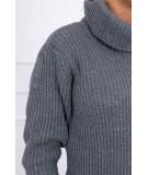 Plonas megztinis (Grafito)
