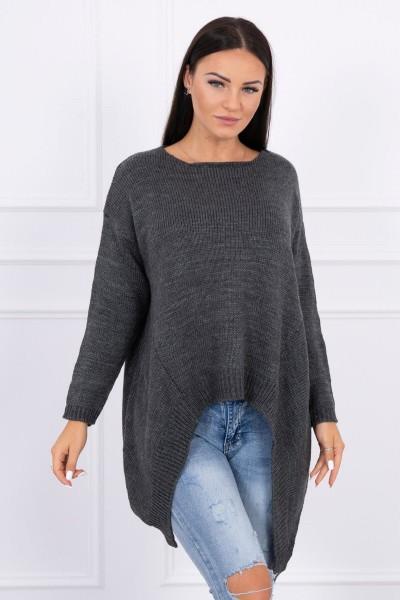 Megztinis su ilgesniais šonais (Grafito)