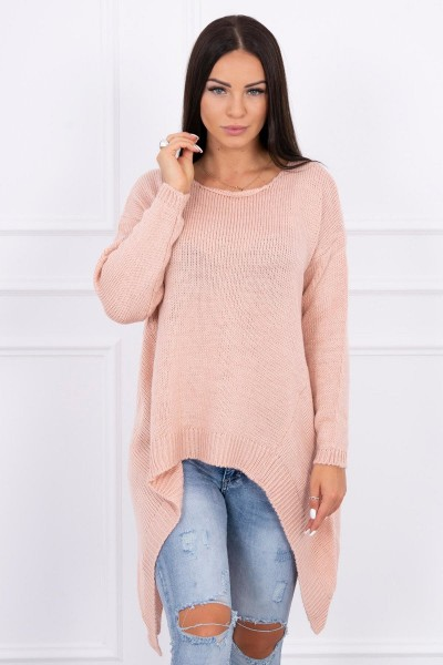 Megztinis su ilgesniais šonais (Šviesiai) (Rožinė)