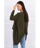 Megztinis su ilgesniais šonais (Khaki)