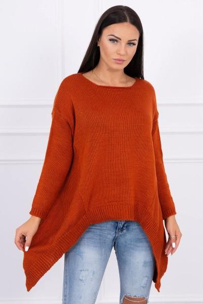 Megztinis su ilgesniais šonais (Lapės spalva)