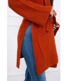 Megztinis su kišenėmis (Lapės spalva)