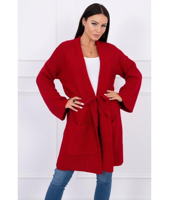 Megztinis su kišenėmis (Raudona)