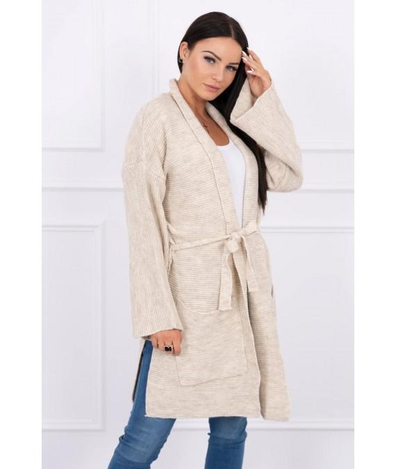 Megztinis su kišenėmis (Šviesi) (Smėlio spalva)