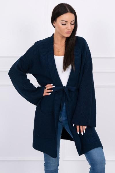 Megztinis su kišenėmis (Tamsiai mėlyna)