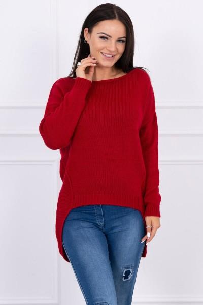 Megztinis su trumpesniu priekiu (Raudona)