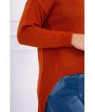 Megztinis su trumpesniu priekiu (Lapės spalva)
