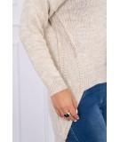 Megztinis su trumpesniu priekiu (Šviesi) (Smėlio spalva)
