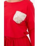 Suknelė su blizgančia kišene (Raudona)