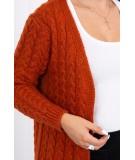 Megztinis su ornamentais (Lapės spalva)