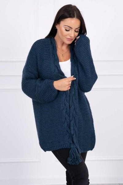Megztinis su bumbulu (Tamsiai mėlyna)
