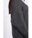 Megztinis su ilga apykakle (Grafito)