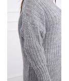 Megztinis su ilga apykakle (Pilka)