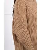 Megztinis su ilga apykakle (Kapučino)