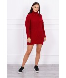 Megztinis su ilga apykakle (Raudona)