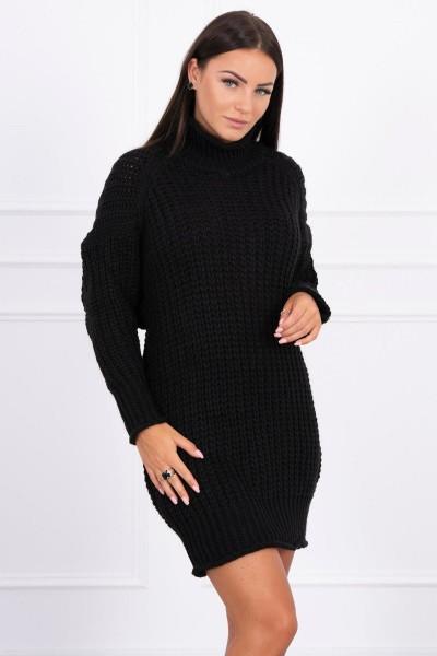 Megztinis su ilga apykakle (Juoda)