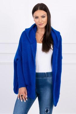 Megztinis su gobtuvu ir ilgomis rankovėmis (Mėlyna)