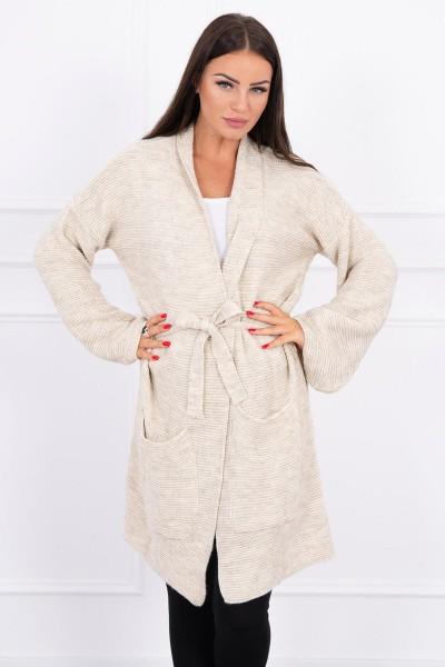 Megztinis su kišenėm (Šviesi) (Smėlio spalva)