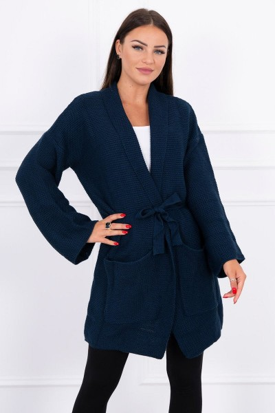 Megztinis su kišenėm (Tamsiai)-(Mėlyna)