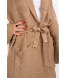 Megztinis su kišenėm (Šviesiai ruda)