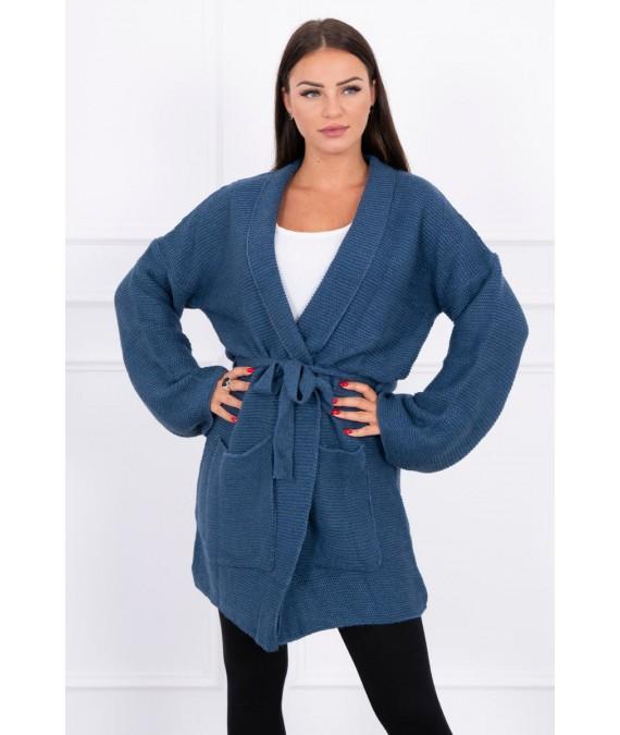 Megztinis su kišenėm (Mėlyna)