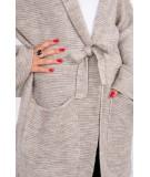 Megztinis su kišenėm (Tamsi) (Smėlio spalva)