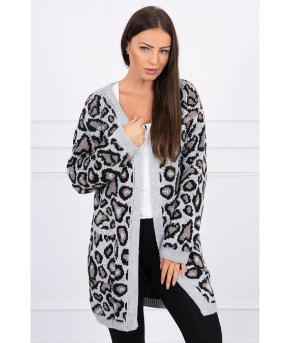 Leopard sweater (Pilka)