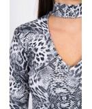 Suknelė su an animal motif (Pilka)